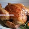 مرغ بریان شکم پر